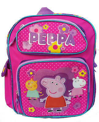 "Peppa Pig 12"" small size Backpack Bag for Girls and Kids"