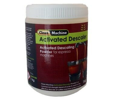 Coffee Machine Cleaner Descaler Powder 1kg 20 apps Delonghi Breville Gaggia Jura