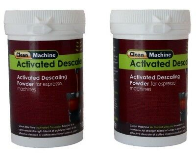 Coffee Machine Cleaner Powder Espresso Descaler 100gm ea  x2 Nespresso Saeco