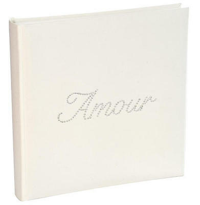 Livre D'or strass Amour blanc