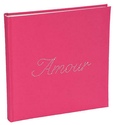 Livre D'or strass Amour fuchsia