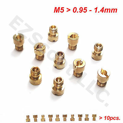 CARBURETOR MAIN JETS 125/150cc M5 10PIECE GY6 CHINESE 4STROKE SCOOTER MOPED