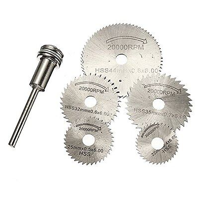 HSS Circular Saw Cutting Blade Disc Set for Dremel Multitool Mini Rotary Tool