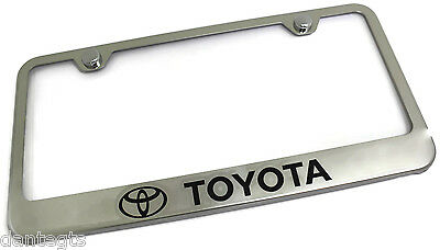 toyota logo laser etched license plate frame stainless steel metal trd