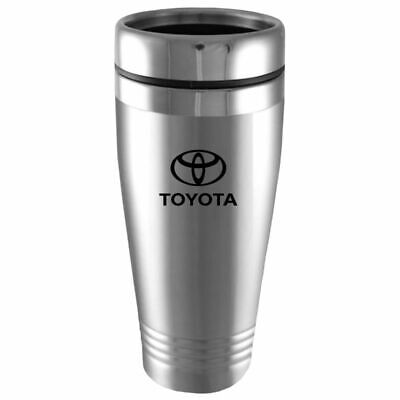 Toyota Logo Silver Insulated Double Wall Stainless Steel Travel Coffee Mug Etch