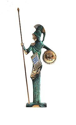 Ancient Greek Bronze Athena & Javelin Green Gold Oxidization 162