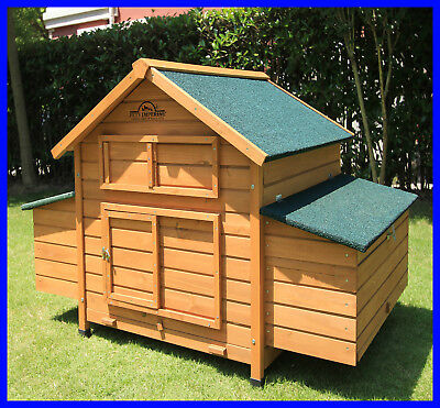 Chicken Coop Large Deluxe Hen Poultry House Hutch Run Savoy With Double Nest Box