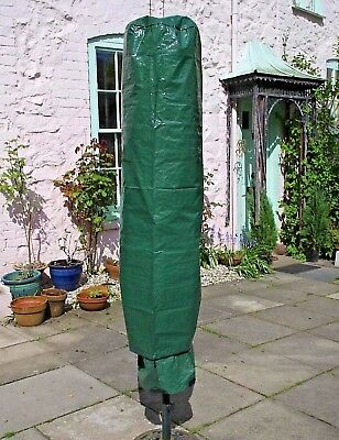 Heavy Duty Black Rotary Washing Line Cover Clothes Airer Drier Waterproof Cover