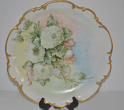 Hutschenreuther Selb Bavaria Hand Painted Signed Lambert 52 Cabinet Plate