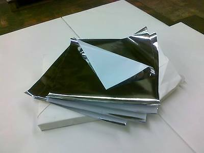 100 Foil Liner Chicken Kebab Naan Wrap Food Wrapping Sheet Grease Proof Paper