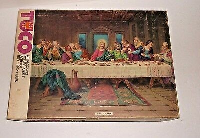 Vintage late 50's TUCO 1000 Pieces The Last Supper Jigsaw No 8401 FACTORY SEALED