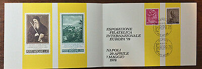 Vatican City Special Cancelled Folder Europa '78