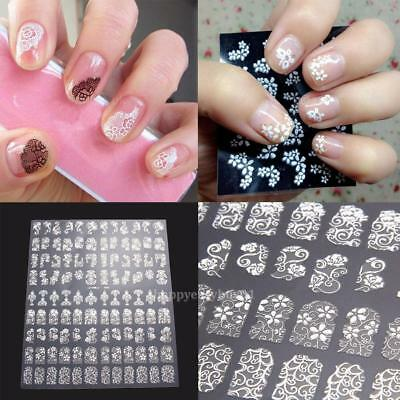 108PCS 3D Flower Nail Art Stickers Decals Tips Stamping DIY Decor Manicure Women