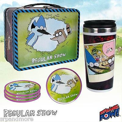 Regular Show Mordecai and Rigby Tin Tote Gift Set - Convention Exclusive-New