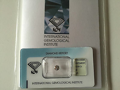 Diamante Certificato Igi D If 0.50 Ct In Blister Ottimo Affare Investimento