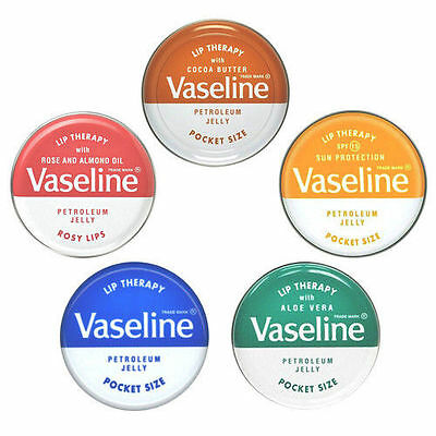 Vas Lip Therapy Petroleum Jelly Lip Tin 20G ( Choose Your Flavour) One Supplied