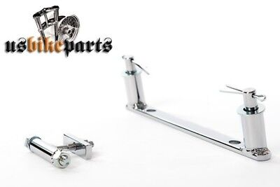 Solo seat spring mount kit for Harley Davidson and custom bikes chrome new