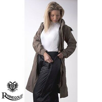 NEW Rhinegold Waterproof Over Trousers for Riding – Black – 4 sizes **FREE P&P**