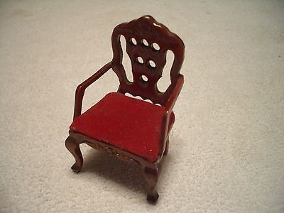 Concord Dollhouse Mahogany, Maroon Armchair, Nice, Excellent, L@@k!!