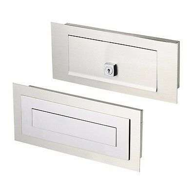 SALE Milkcan Brick In CARRERA Letterbox 304 Stainless / Chrome Mailbox