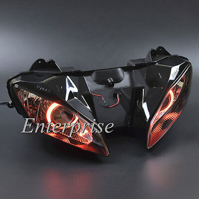 Projector Headlight Assembly Red Angel Eyes HID For Yamaha YZF R6 2008-2014 NEW