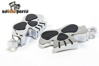 Footpegs footrests pegs skull design for Harley Davidson and custom motorcycles