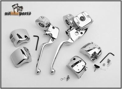 Handlebar hand control kit for Harley Davidson 1972-2006 chrome custom new