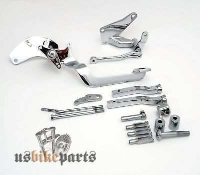 Forward control kit footrests footpegs pegs for Harley Davidson and custom bikes