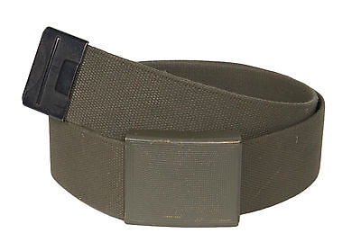 Genuine German Army Heavy Duty Olive Bundeswehr BW Webbing Belt and Metal Buckle