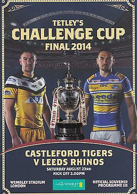 * CASTLEFORD v LEEDS 2014 CHALLENGE CUP FINAL PROGRAMME (23rd AUGUST) WEMBLEY *