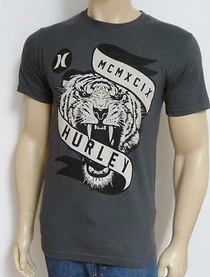 64294ffc7 Hurley Tiger Mascot Graphic Tee Mens Dark Gray T-Shirt Classic Fit NWT New