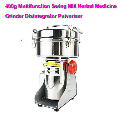 400g Stainless Steel High-speed Grinder Multifunction Swing Mill Herbal Medicine