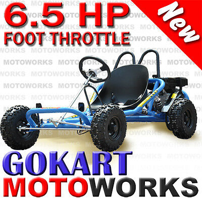 6.5 HP HORSE POWER GO KART BUGGY QUAD DIRT BIKE ATV 4 WHEELER blue