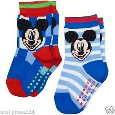 Adorable Baby Boy Disney 'Mickey  Mouse' 2 Pair Pack Socks