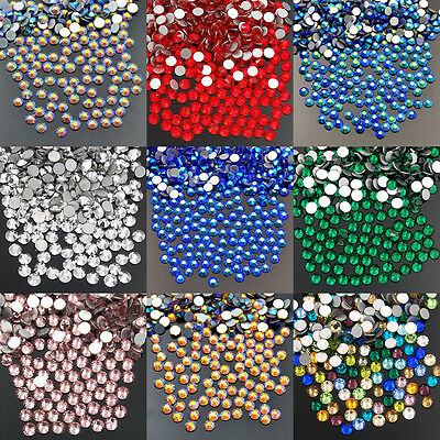 1440Pcs Top Quality No Hot fix Rhinestones Crystal Flatback Nail Art Color AB