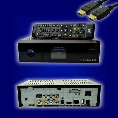 Red Eagle TwinBox LCD Full HD Linux E2 Receiver (1 x DVB-S2 Sat Tuner)+ HDMI
