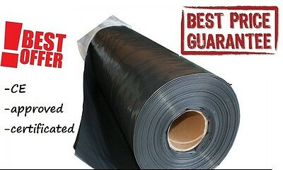 DAMP PROOF MEMBRANE BLACK 1000G 200mu 5M WIDTH DPM HD CHOOSE YOUR LENGHT