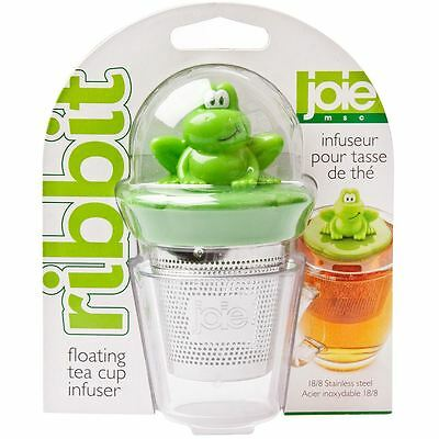 Joie Ribbit Frog Tea Infuser Floating Cup Brewer Stainless Steel Novelty