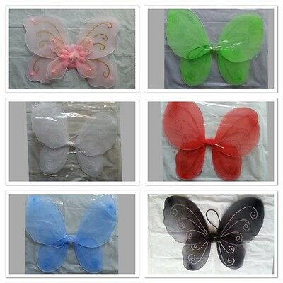 Butterfly Fairy Angel Wings  Costume Dance Party Halloween Pink blue red black