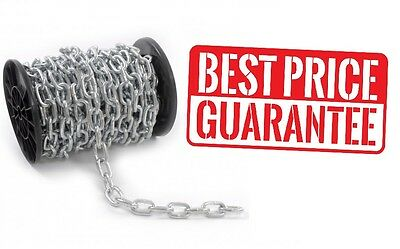 STEEL CHAIN ® HEAVY DUTY GALVANIZED⛓  3 4 5 6 8 10 12mm short link [BEST] PRICE