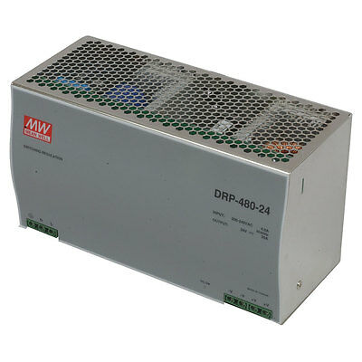 Mean Well DRP-480-24 AC to DC DIN-Rail Power Supply 24 Volt 20a 480 Watt