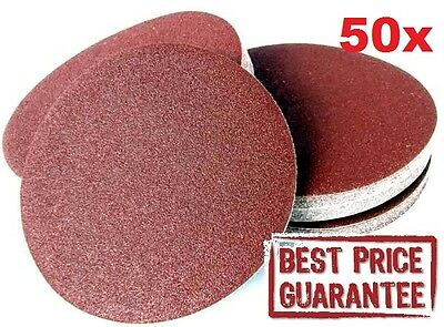 "BEST 50x PROFESIONAL Velour Backed Sanding Discs 125mm 5"" MIXED GRIT Sander Pads"