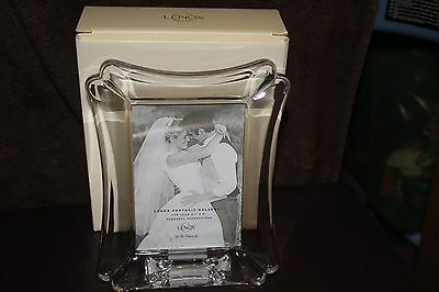 "LENOX Lead Crystal Wedding Promises Picture Frame 3.5""  x 5"" Pic Size NEW In Box"