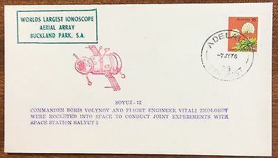1976 Soyuz 12 cover with Adelaide cancel first day cover