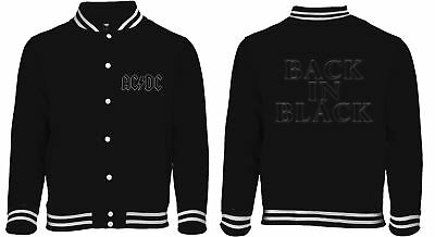 AC/DC 'Back In Black' Baseball Style Varsity Jacket - NEW & OFFICIAL!