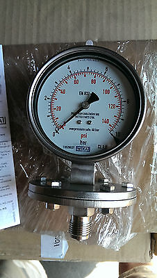 Wika Pressure Gauge 433.50 Stainless Steel Glycerine Filled