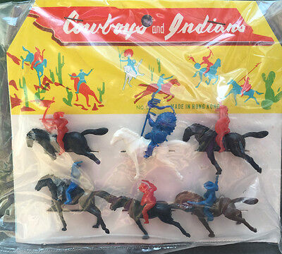 Packet of 6 Vintage 1950s Cowboys & Indians...Hours of fun...