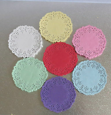 "Paper Lace Doilies 3.5""4.5""5.5"" upto 12"" Colour Wedding Craft Scrapbooking Cake"