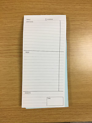 2 Part , Restaurant Cafe Waiter Food Order Pads X 50 Pads