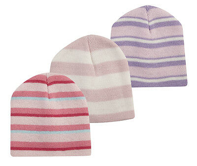 TICK TOCK Baby Girl New Stripy Beanie Hat Cap Winter Warm Infant Toddler